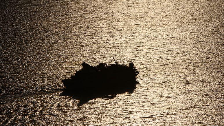 Leaving Santorini